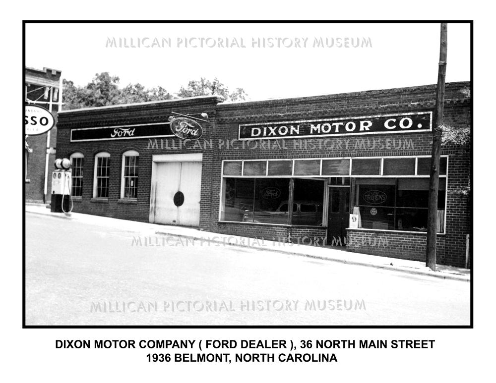 B2056 Dixon Motor Co 1936 Belmont Nc Jb Millican