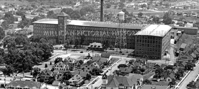 Firestone Mills (  Loray Mills ) & Mill Village showing Franklin Boulevard, Gastonia, North Carolina