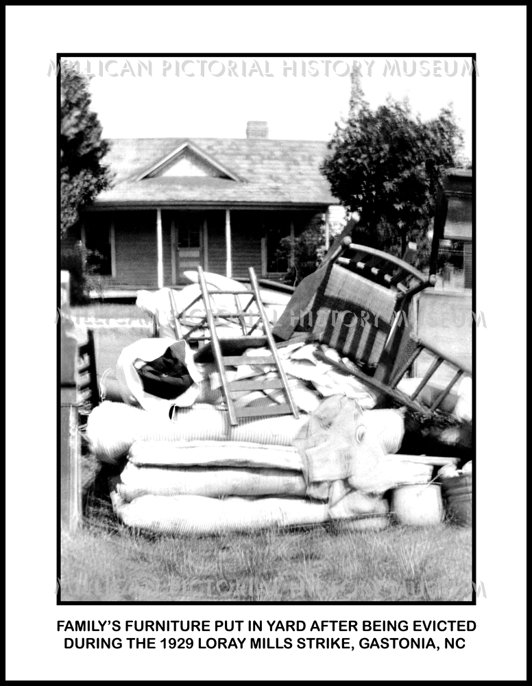 Familyu0027s Furniture Put In Yard After Being Evicted During The 1929 Loray  Mills Strike, Gastonia, NC