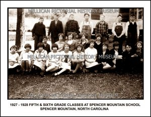 Spencer Mountain School, Spencer Mountain, NC.
