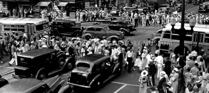 Independence Square ( Trade & Tryon Streets ) 1941, Charlotte, North Carolina+