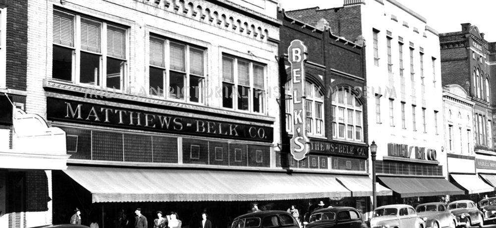 Matthews Belk Company 116 Main West Avenue in 1944, Gastonia, North Carolina