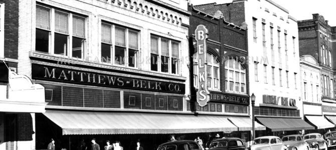 Matthews Belk Company 116 Main West Avenue in 1944, Gastonia, North Carolina