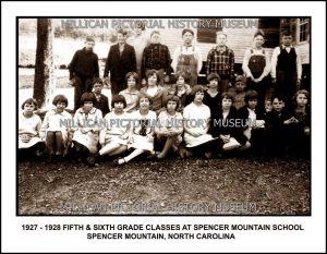 Spencer Mountain School, Spencer Mountain, NC.